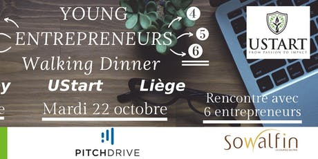 Young Entrepreneurs Walking Dinner billets