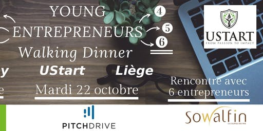 Young Entrepreneurs Walking Dinner