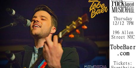 TOBE BAER LIVE AT ROCKWOOD MUSICAL HALL STAGE 1 tickets