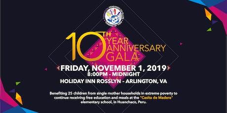 "10-Year Anniversary Fundraising Gala - ""Pensando en Ellos"" Foundation tickets"