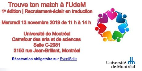 Trouve ton match à l'UdeM - Employeurs tickets