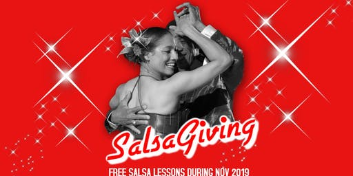 Happy SalsaGiving! Free Salsa lessons during November 2019.