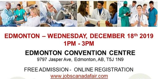 Edmonton Healthcare Job Fair - December 18th, 2019
