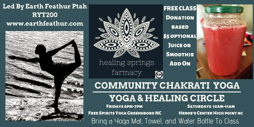 Chakrati Yoga with Earth Feathur Greensboro Class