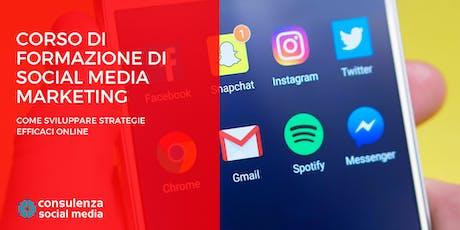 Corso di Formazione di Social Media Marketing a Genova: come sviluppare strategie efficaci online  biglietti