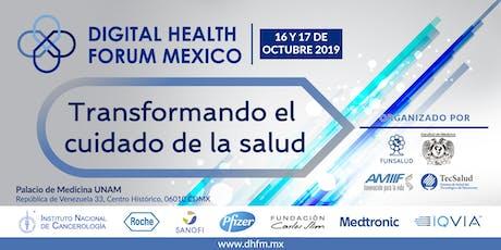 Digital Health Forum México Octubre 2019 entradas