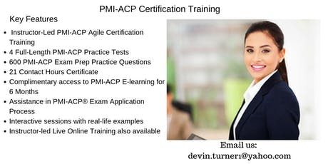 PMI-ACP Certification Training in Moncton, NB tickets