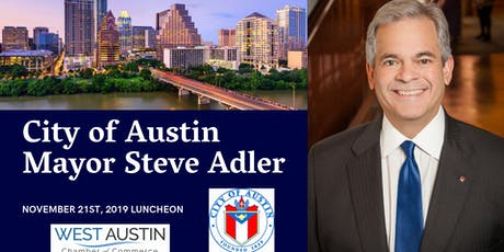 West Austin Chamber luncheon featuring Mayor Steve Adler tickets