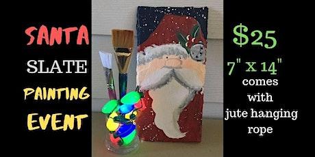 Santa Slate Painting Event tickets
