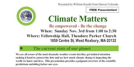 Climate Matters: Be empowered - Be the change tickets