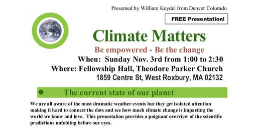 Climate Matters: Be empowered - Be the change