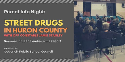 Parent Info Night:  Street Drugs in Huron County
