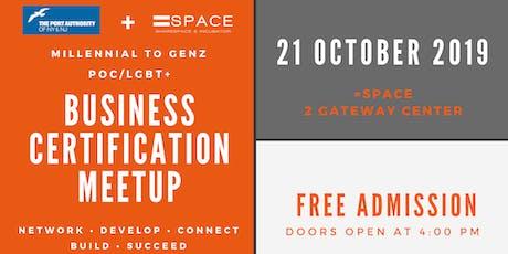 Millennial to GenZ POC/LGBT+ Business Certification Meetup tickets