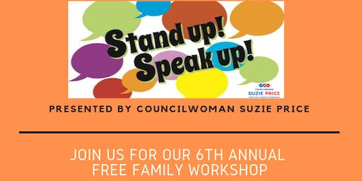 Councilwoman Suzie Price's FREE Family Workshop on Anti-Bullying
