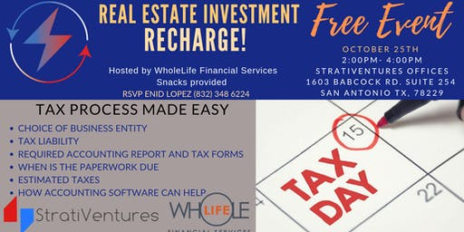 RECHARGE: Tax Preparation for Your Real Estate Business w/StratiVentures