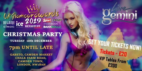 UK GLAMOUR AWARDS CHRISTMAS PARTY tickets