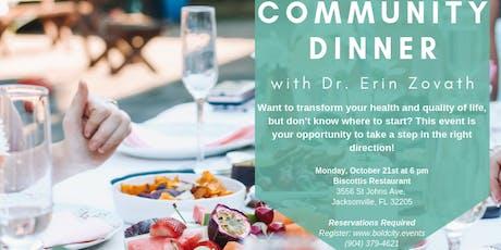 Community Dinner tickets