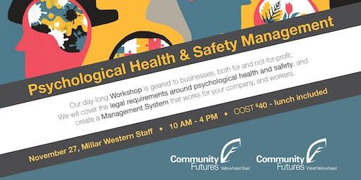 Psychological Health & Safety Management Workshop - Millar Western