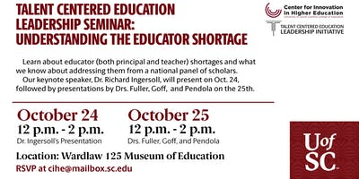 TCELI/CIHE Seminar: Understanding the Educator Shortage (Day 1 of 2)
