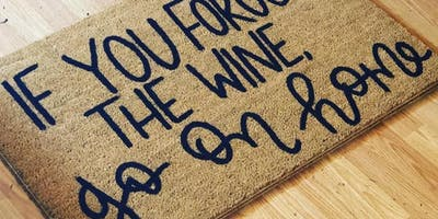 DIY Personalized Doormats with Haungs Calligraphy