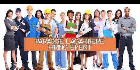 Paradies Lagardere Hiring Event tickets