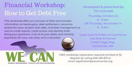 WE CAN: Get Debt Free! Workshop by Tim Schnelle tickets