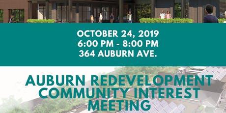 Auburn Redevelopment Community Interest Meeting tickets