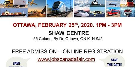 Ottawa Transportation Profession Job Fair - February 25th, 2020
