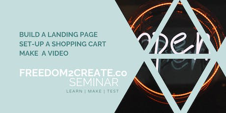 """Open for Business"" - Learn to make landing pages, shopping carts and video tickets"
