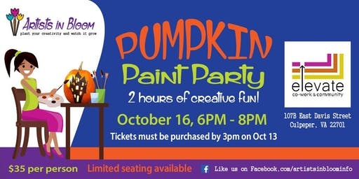 Pumpkin Paint Party