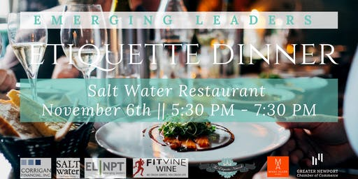 Emerging Leaders of Greater Newport Etiquette Dinner