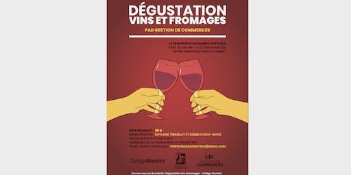 Dégustation vins et fromages - Collège Ahuntsic