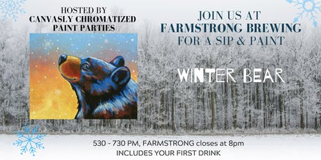 Winter Bear Paint & Sip @ Farmstrong tickets