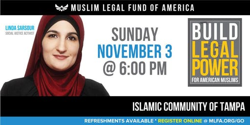 Build Legal Power for American Muslims with Linda Sarsour -  Tampa, FL