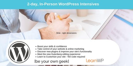 LearnWP 2-Day In-Person WordPress Workshop in Toronto tickets