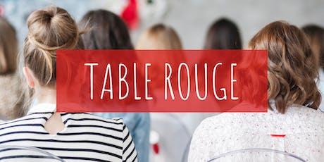 Table rouge  : Découvre le principe de l'écologie menstruel tickets