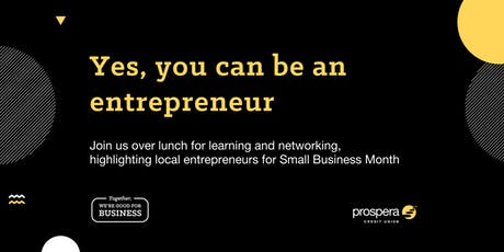 Yes, you can be an entrepreneur tickets
