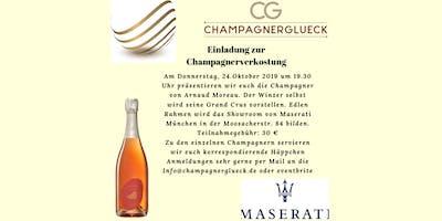 Champagner-Degustation mit Arnaud Moreau bei Maserati Moosach