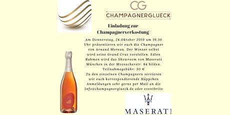 Champagner-Degustation mit Arnaud Moreau bei Maserati Moosach Tickets