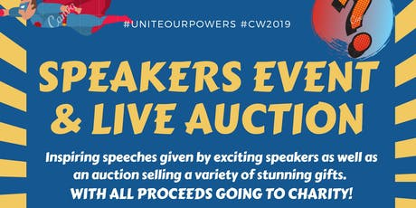 Speakers event and live auction tickets