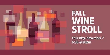 Fall Wine Stroll 2019 tickets
