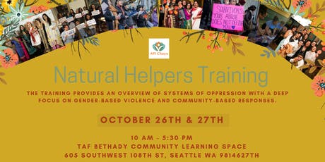 Natural Helpers Training tickets
