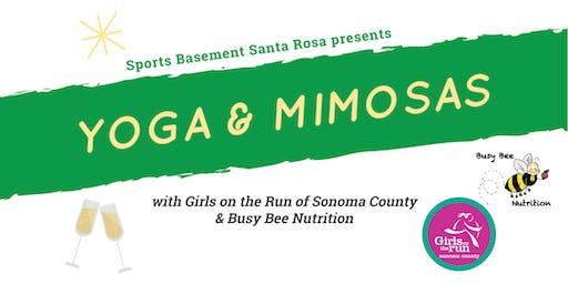 Yoga & Mimosas at Sports Basement