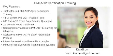 PMI-ACP Certification Training in Fort Nelson, BC tickets