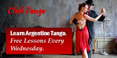 REGISTER for FREE  Lessons:  Learn to Dance Argentine Tango Every Wednesday