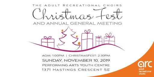 ARC's Annual ChristmasFest & AGM