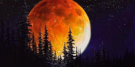 Paint n Pint Ettenmoors Moon by Bob Ross