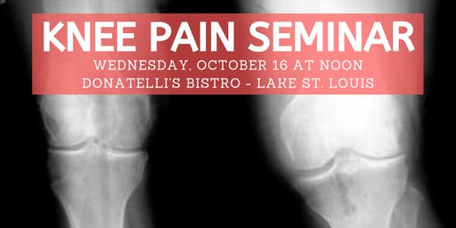 Ozzie Smith Center KNEE Pain Seminar - Oct. 16