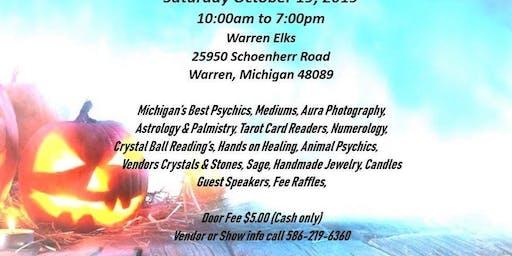 Michigan Psychic Fair Expo October 19, 2019 Warren Elks