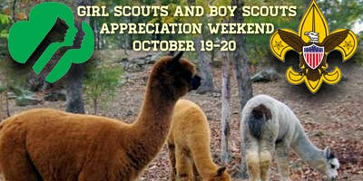 Girl Scouts and Boy Scouts Alpaca Weekend